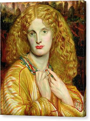 Helen Of Troy Canvas Print by Dante Charles Gabriel Rossetti