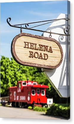 Helena Road Sign Canvas Print