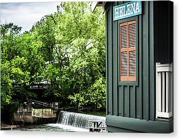Canvas Print featuring the photograph Helena Sign By Buck Creek by Parker Cunningham