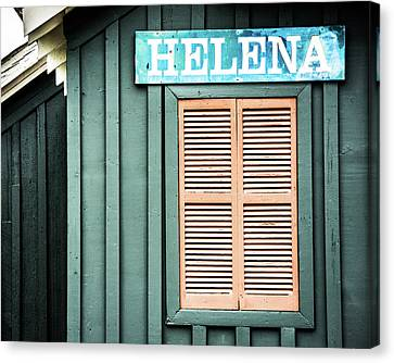 Canvas Print featuring the photograph Helena Sign On A Spring Day by Parker Cunningham