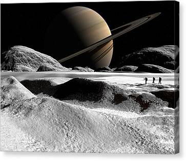 Canvas Print featuring the digital art Helene by David Robinson