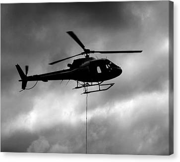 Helicopter In Sling Operations Canvas Print by Wyatt Rivard