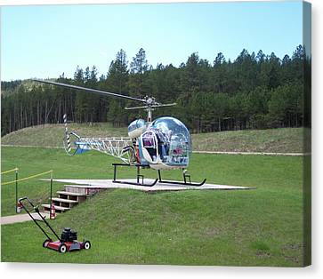 Crazy Horse Canvas Print - Helicopter Ride South Dakota by Thomas Woolworth