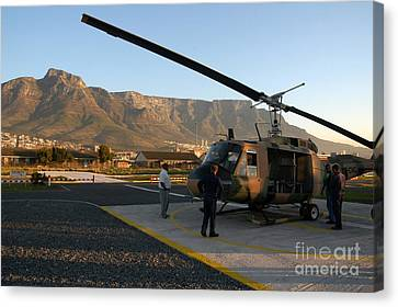 Helicopter Tours Of Cape Town And Table Mountain Canvas Print by Andy Smy