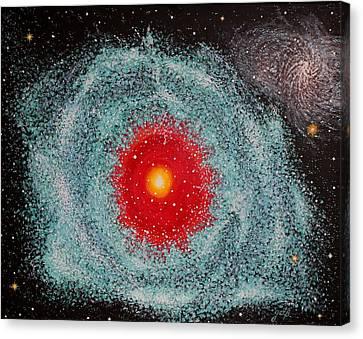 Helix Nebula Canvas Print by Georgeta  Blanaru