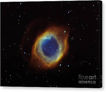 Helix Nebula In Aquarius Ngc 7293 Canvas Print by Filipe Alves