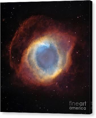 Helix Nebula Canvas Print by Stocktrek Images