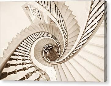 Spiral Staircase Canvas Print - Helix Vertigo by Ines Montenegro