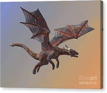 Hell Dragon Flying Canvas Print