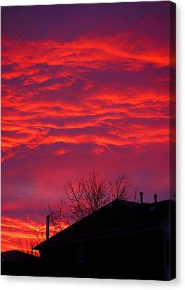 Canvas Print featuring the photograph Hell Over Ontario by Valentino Visentini