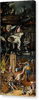 Hell    The Garden Of Earthly Delights Canvas Print by Hieronymus Bosch
