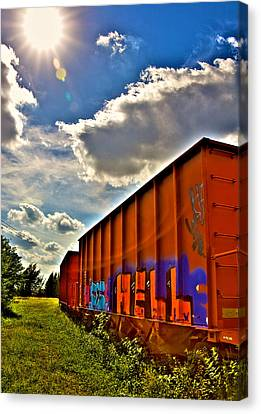 Hell Train Canvas Print by William Wetmore
