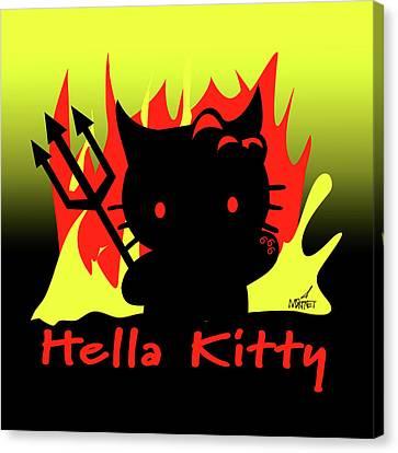 Hella Kitty Canvas Print