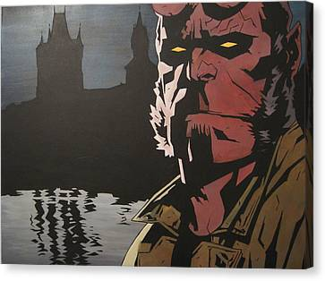 Hellboy  Canvas Print by Jackie Davenport