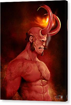 Hellboy Canvas Print by Jason Longstreet