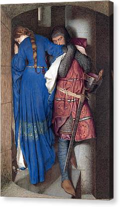 Hellelil And Hildebrand Or The Meeting On The Turret Stairs Canvas Print