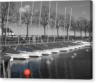 Canvas Print featuring the photograph Hellerup Marina by Michael Canning