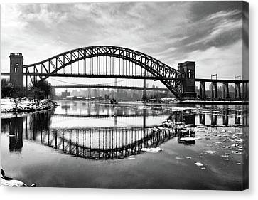 Hellgate Full Reflection Canvas Print