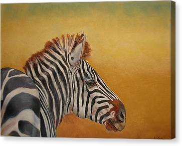 Canvas Print featuring the painting Hello Africa by Ceci Watson
