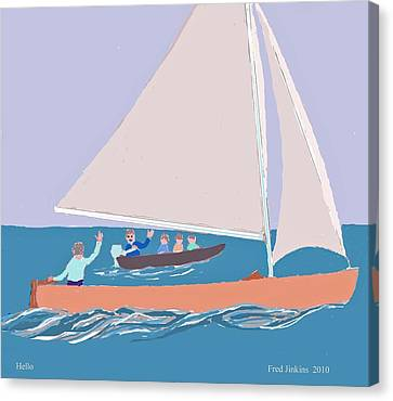 Hello Canvas Print by Fred Jinkins