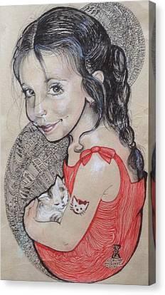 Hello Kitty Canvas Print by Ottilia Zakany