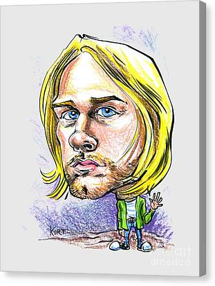 Hello Kurt Canvas Print by John Ashton Golden