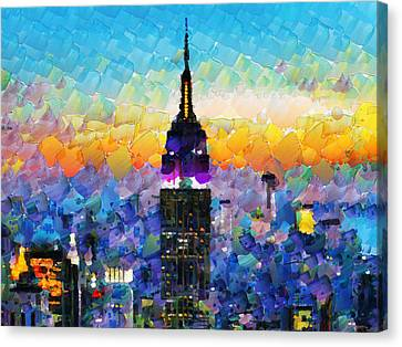 Hello New York Canvas Print by Sir Josef - Social Critic -  Maha Art