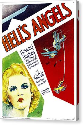 Hells Angels, Jean Harlow On Window Canvas Print by Everett