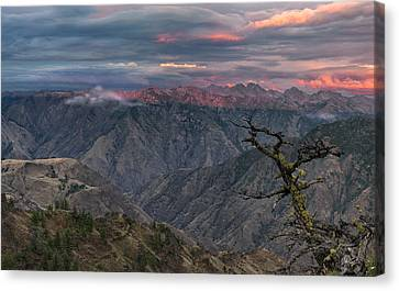 Hells Canyon Sunset 2 Canvas Print by Leland D Howard