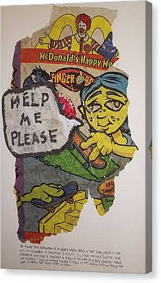 Help Me Please Canvas Print by William Douglas