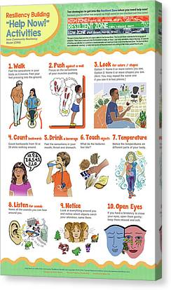 Educational Canvas Print - Help Now Activities by Heidi Hanson