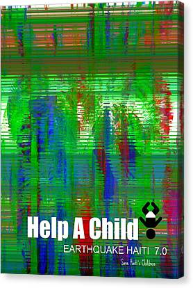 Help Save An Orphan Canvas Print by Fania Simon