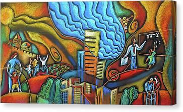 Helping Hand Of Jewish Community Canvas Print by Leon Zernitsky