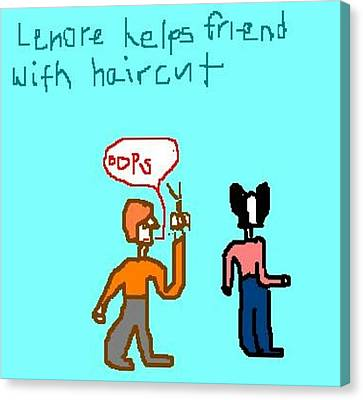 Helping Canvas Print by Lenore Senior