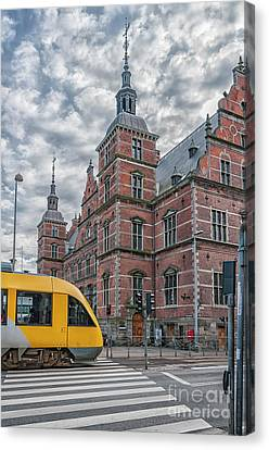 Canvas Print featuring the photograph Helsingor Train Station by Antony McAulay