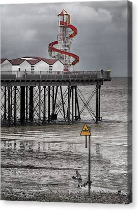 Helter Skelter - Herne Bay  Canvas Print by Philip Openshaw