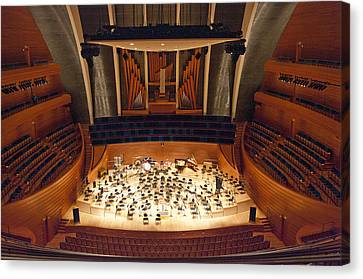 Canvas Print featuring the photograph Helzberg Hall by Jim Mathis