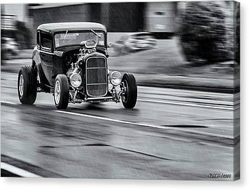 Hemi Powered 1932 Ford 5 Window Coupe Canvas Print by Ken Morris