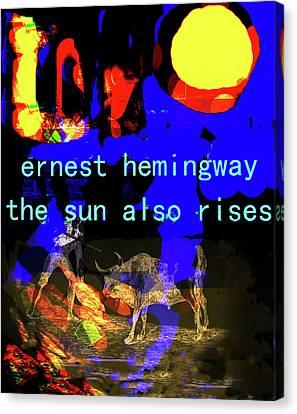 Hemingway Poster  Canvas Print