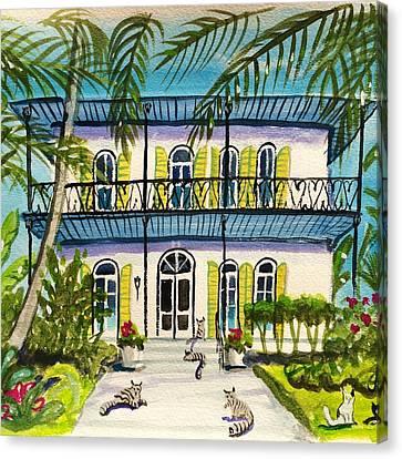 Hemingway's Home Key West Canvas Print by Maggii Sarfaty