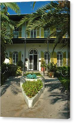 Hemingways House Key West Canvas Print by Susanne Van Hulst
