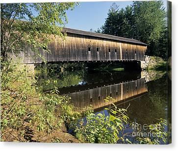 Hemlock Covered Bridge - Fryeburg Maine Usa. Canvas Print by Erin Paul Donovan