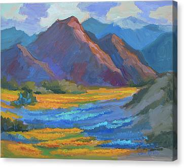 Canvas Print featuring the painting Henderson Canyon Borrego Springs by Diane McClary