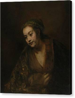 Hendrickje Stoffels Canvas Print by Rembrandt