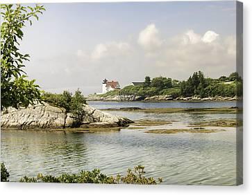 Mid-coast Maine Canvas Print - Hendricks Head Lighthouse by Phyllis Taylor