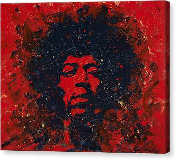 Hendrix Canvas Print by Chris Mackie