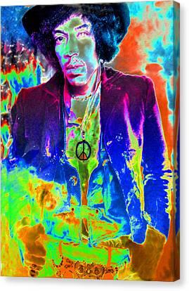 Jimmy Hendrix Canvas Print - Hendrix by David Lee Thompson