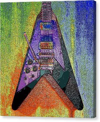 1969 Canvas Print - Hendrix Flying V by David Lee Thompson
