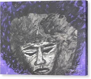 Hendrix In Purple Canvas Print by Jeffrey Koss