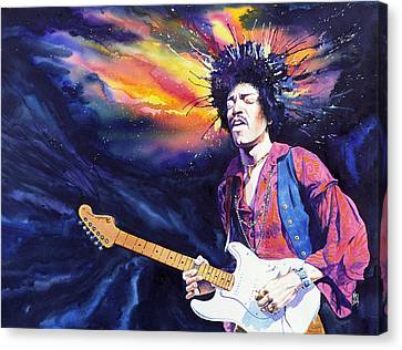 Hendrix Canvas Print by Ken Meyer jr
